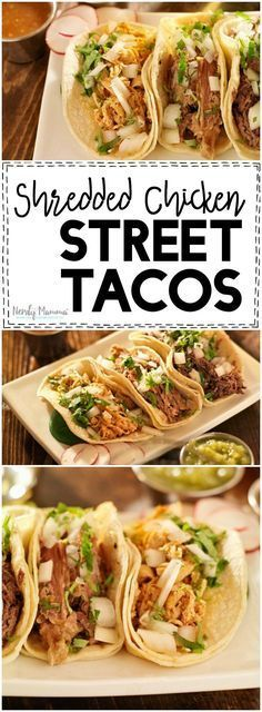 Ooooh, this recipe for Shredded Chicken Street Tacos is so yummy sounding. I…