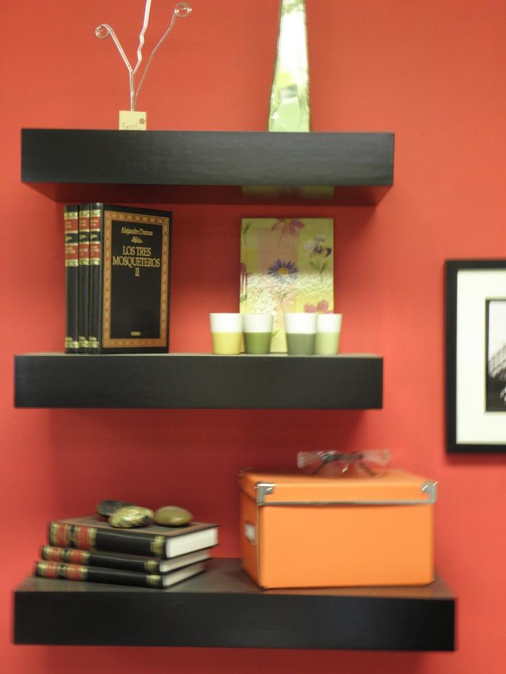 Black Floating Shelves / Set of 3 / Black Color / by MrSelecta, $85.00