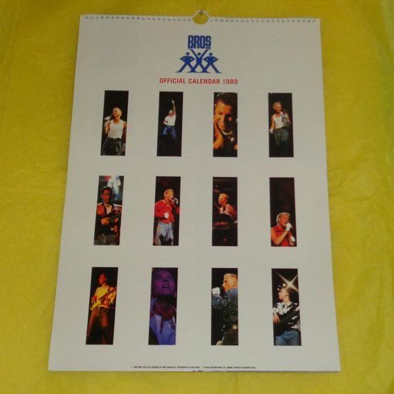 Bros Official 1989 Calendar Music Memorabilia Collectable Vintage