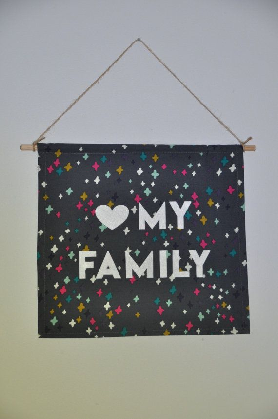 Love My Family Pendant Banner by stanneswood on Etsy