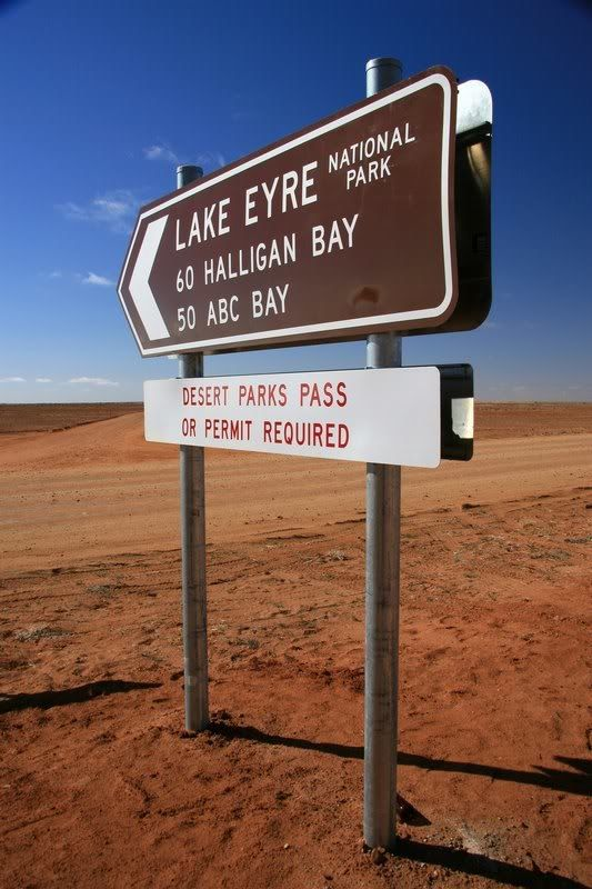 The old Halligan Bay sign, near William Creek, South Australia