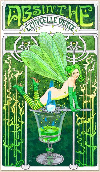 Zur Sachbuch&Werbung Galerie von Caryad: Absinth Fee Plakat