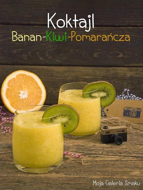 Galeria Smaku: Koktajl banan-kiwi-pomarańcza