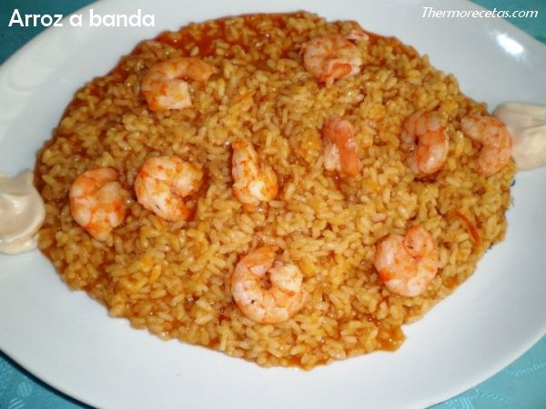 Arroz a banda con allioli