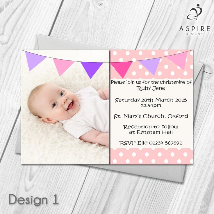 73 best personalised christening baptism naming day invitations personalised baby christeningbaptismthanksgiving invitations custom made with your own photos and text stopboris Choice Image