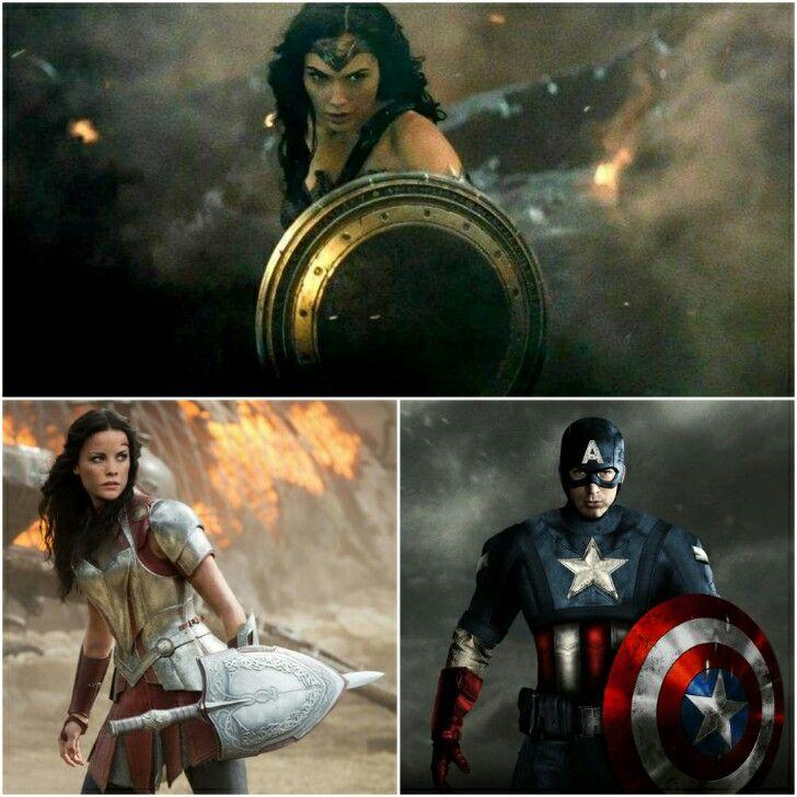 Heróis com Escudo: Mulher Maravilha, Lady Sif & Capitão América