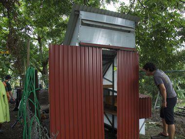 Industrial style chicken coop
