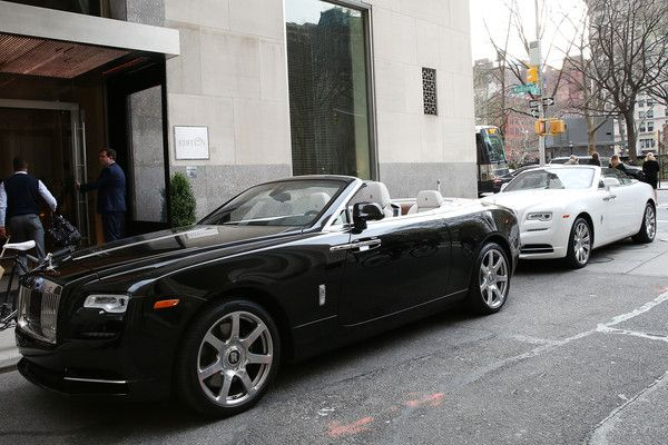 A view of Rolls-Royce cars parked outside the New York EDITION at Haute Living Honors Richard Gere With Rolls-Royce And Hublot on April 13, 2017 in New York City.