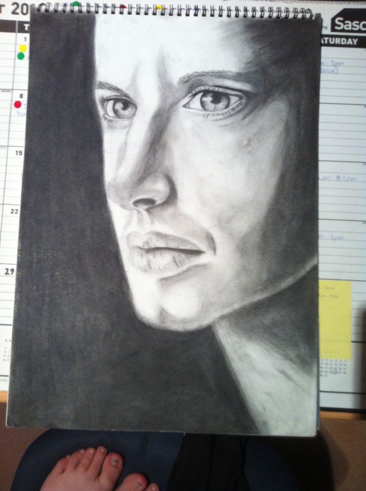 Jensen ackles - pencil and charcoal - 2012