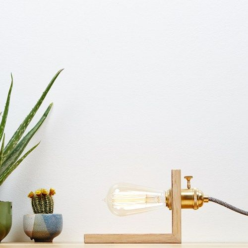Measurements Approximate Height mm Width mm Length mm Thickness mm Lamp includes x Copper amp Oak Lamp Handmade from reclaimed materials x Brass Light Bulb Holder x Reproduction Edison bulb