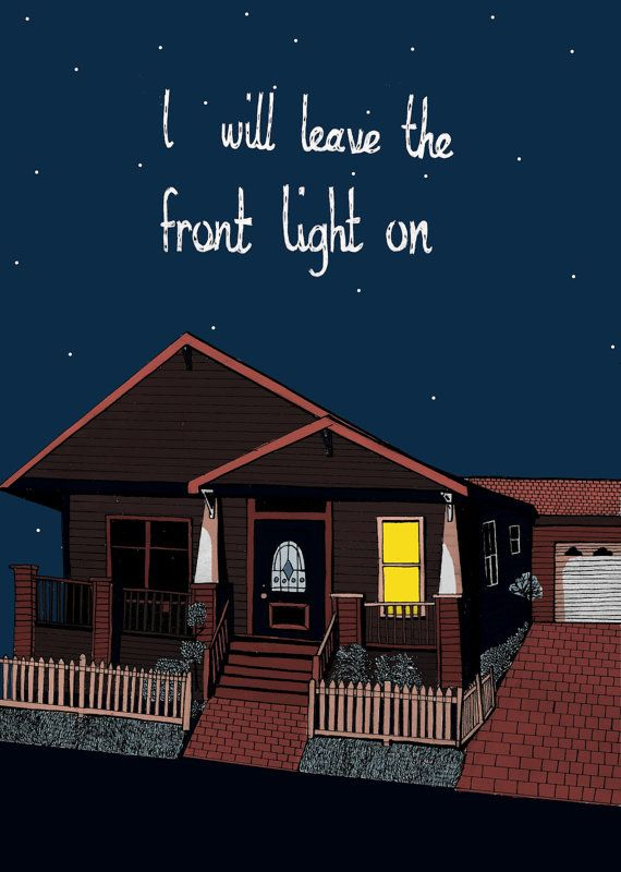 Gaslight Anthem House A3 print by CarolineDowsett on Etsy, £5.00