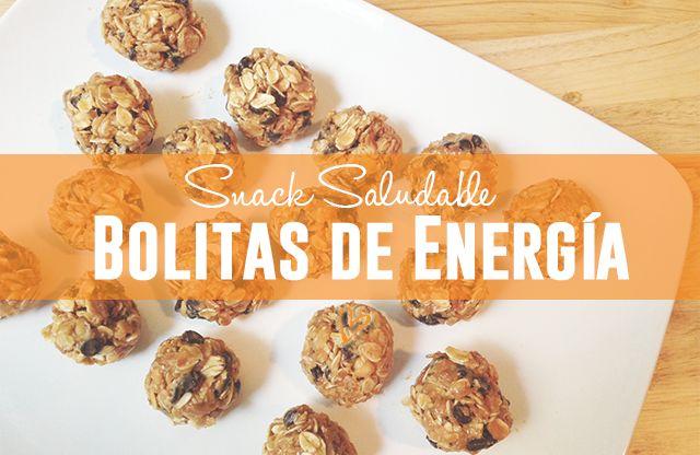 Snack Saludable: Bolitas de Energía