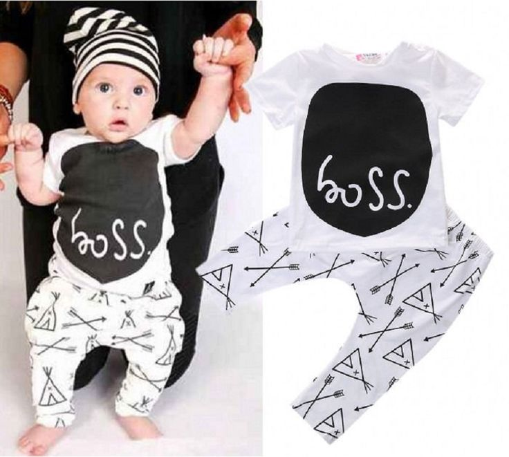 >> Click to Buy << Baby Boys Girls Clothes Sets Cute Cartoon Letter Outfits Newborn T Shirt+Trousers Vetement Enfant Fille Garcon #Affiliate