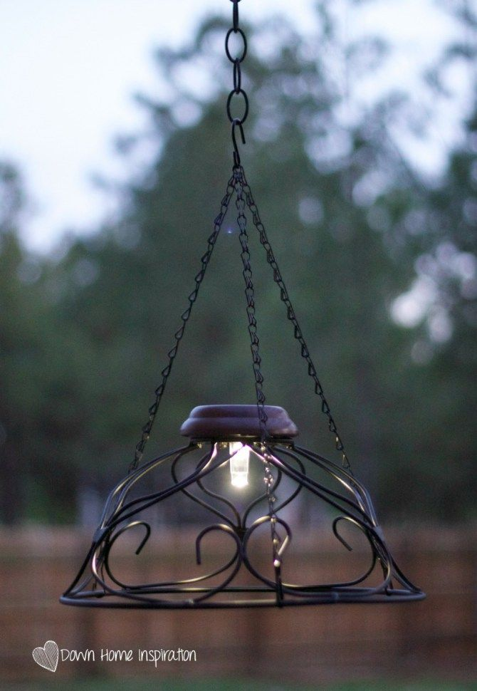 You'll only need two ingredients to make a beautiful solar chandelier that will take you less than $10 and 10 minutes to complete.