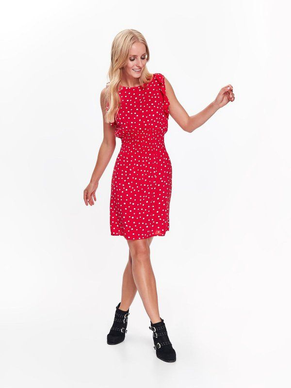 Sukienka Damska W Groszki W Kropki Czerwona Ssu2432 Top Secret Fashion Style Vintage