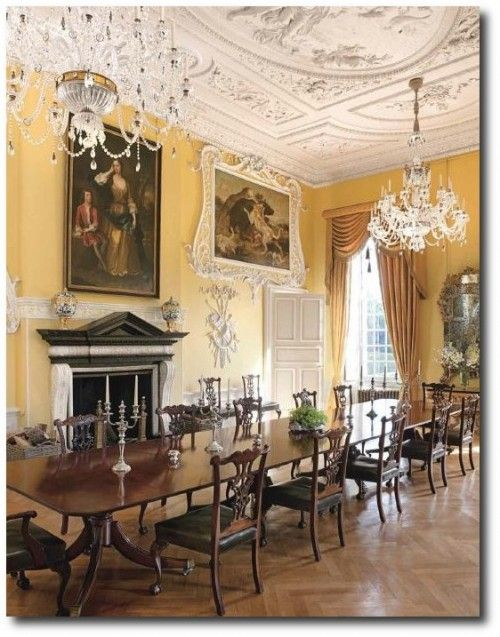 Easton neston with architectural digest henrietta spencer for Georgian dining room ideas