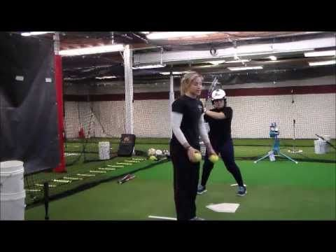 BEST SOFTBALL BASEBALL BATTING DRILL FOR REACTION Coach Lisa Rizzo Softball - YouTube