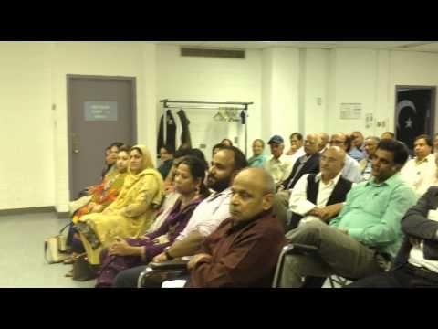 Naseer Sahib, Urdu Times Editor (Montreal) reciting a poem at a Mushaira...