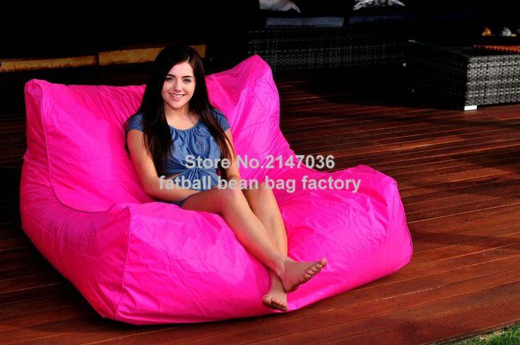 HOT PINK oversize bean bag chair, outdoor waterproof beanbag sofa seat, external and indoor furniture sets
