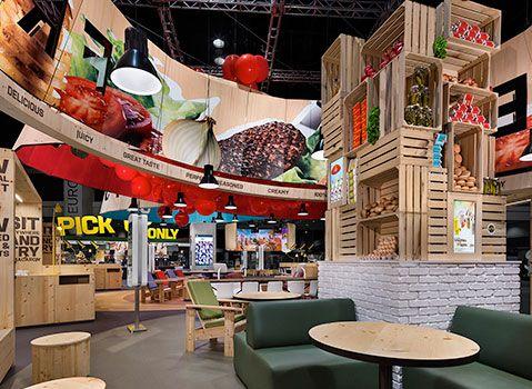 Mcdonalds Europe Trade Show Booth Interior Design