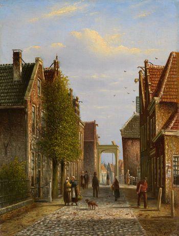 Johannes Franciscus Spohler (1853-1894): Summer Street Scenes, Holland