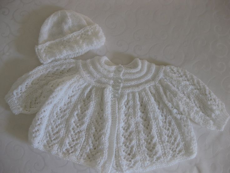 Matinee Jacket and bonnet
