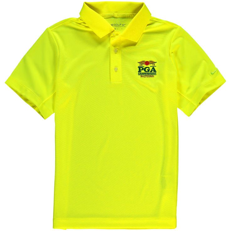 2016 PGA Championship Nike Golf Youth Victory Performance Polo - Yellow - $37.99