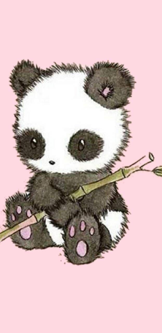 Pin By Breeana Christina On Wallpapers Panda Wallpapers Panda Background Kawaii Panda
