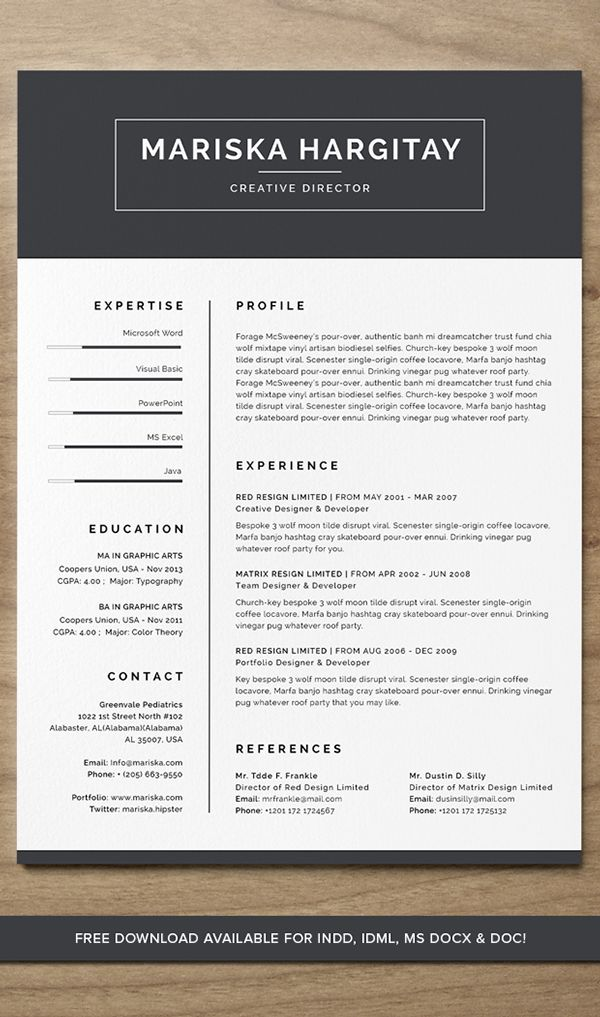 212 best self promo images on Pinterest Resume design, Cv ideas - resume free