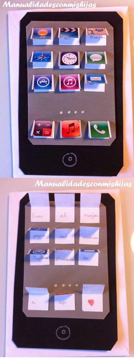 Manualidadesconmishijas: Una tablet para papá - Regalo para el día del padre