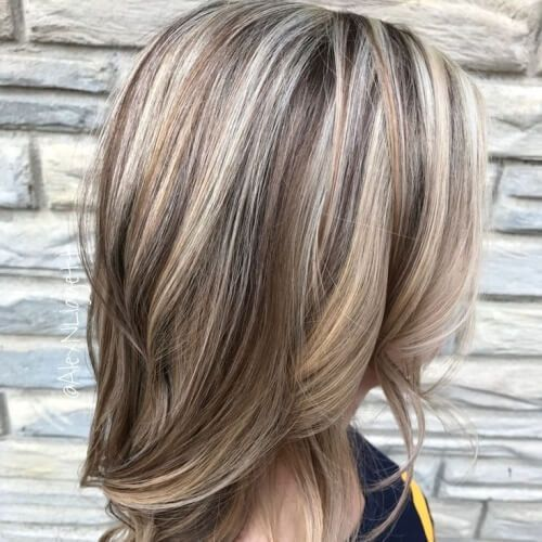 Light Brown Lowlights Platinum Highlights Hair