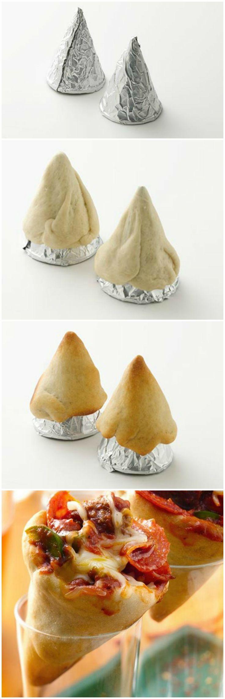 DIY Delicious Pizza Cones