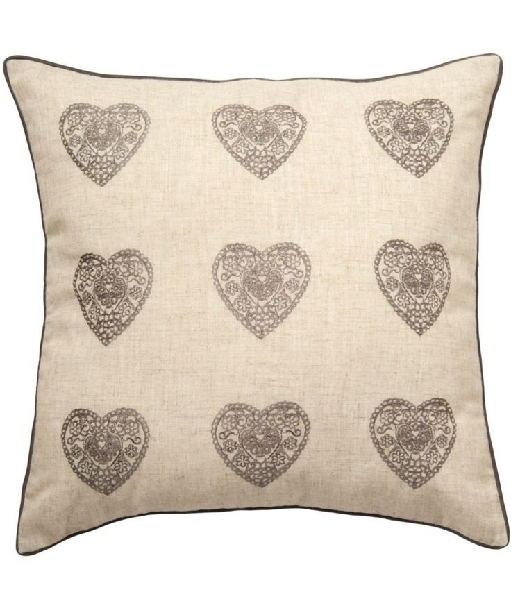 Buy Catherine Lansfield Vintage Hearts Cushion 45x45cm - Silver at Argos.co.uk - Your Online Shop for Cushions. #ArgosRoomInspiration