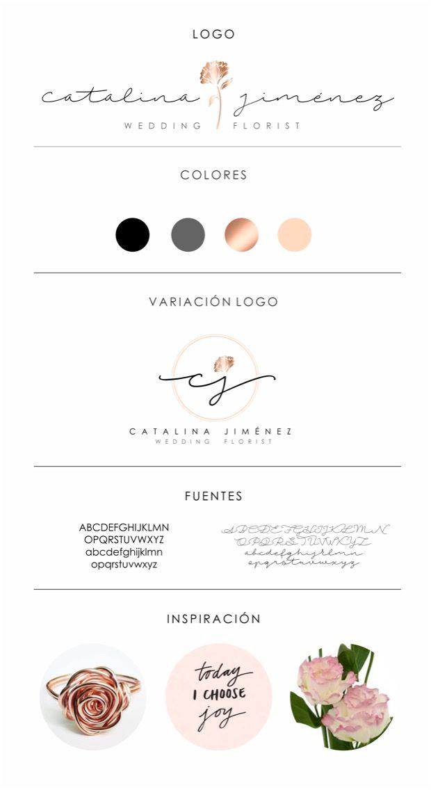 Simple Logo Design Catalina Jimenez Wedding Florist By Dan Fernandez
