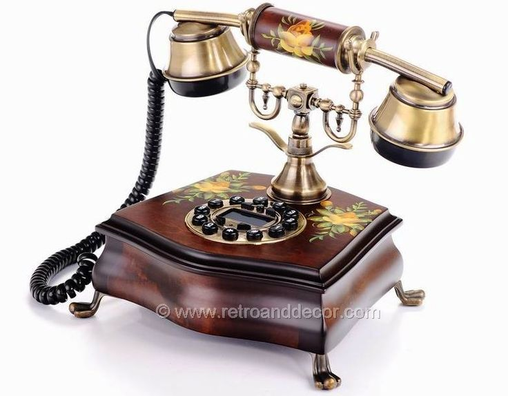 Antique LCD Phones _ FLOWERY BROWN RETRO TELEPHONE. Amazing gift for  yourself or someone you - 113 Best Téléphones....moi Images On Pinterest Beautiful, Desks