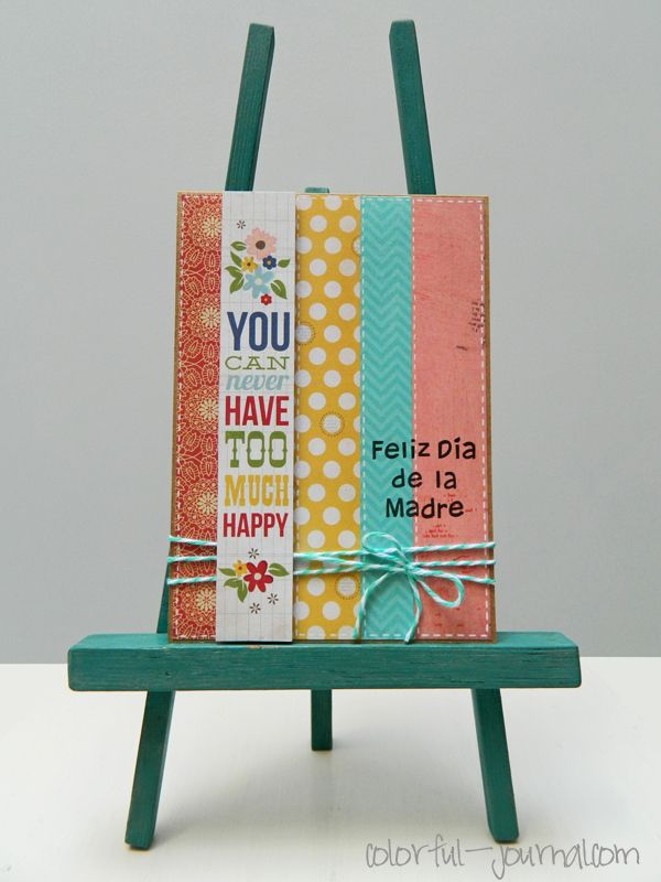 Happy Mother's Day Card - May Cards Blog Challenge using Harold's ABCs stamp set