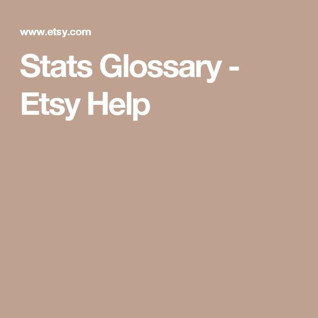 Stats Glossary - Etsy Help