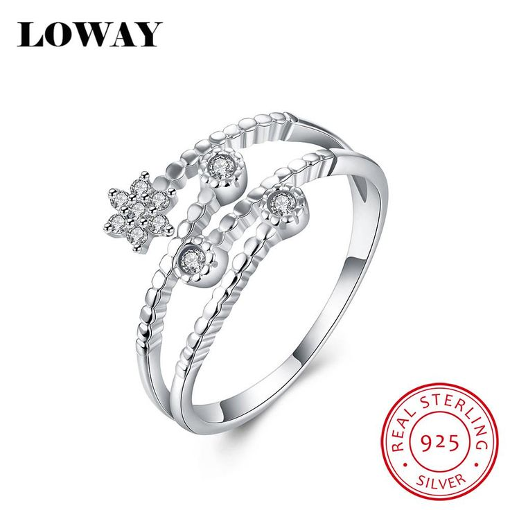 Cheap Silver Rings with Good Quality 925 Sterling Silver and Zircon at Adjustable Ring Size //Price: $23.95 & FREE Shipping //     #925sterlingsilver