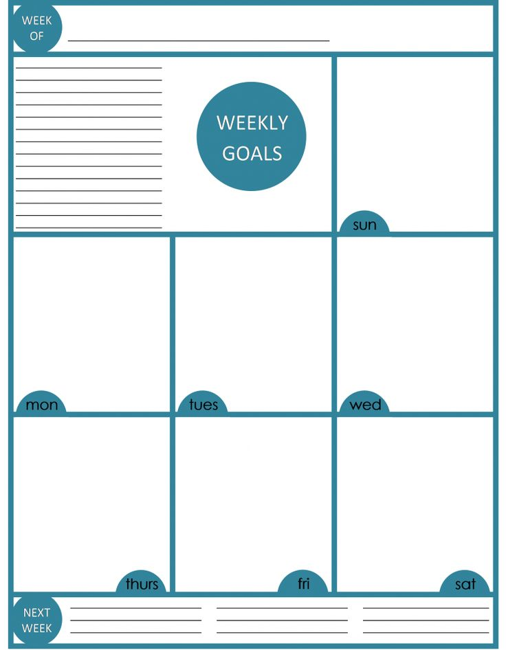 Best 20+ Weekly planner template ideas on Pinterest | Weekly ...