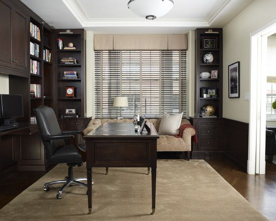 how to decide which color is best for your home office - Traditional Home Office