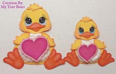 Premade Mom and Baby Valentine Ducks Paper Piecing by My Tear Bears Kira | eBay