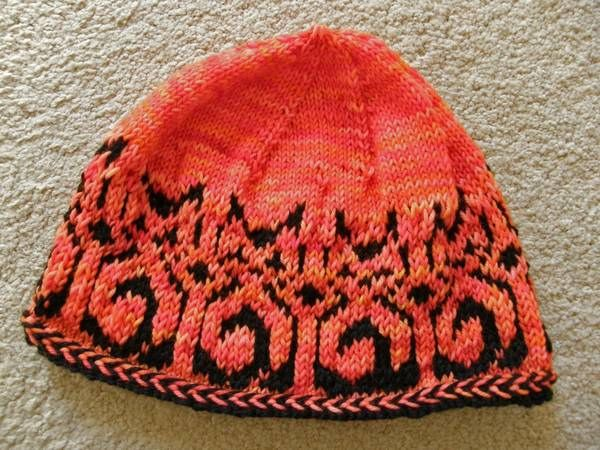 fair isle  great as double knit and a bit longer seems short for a cap