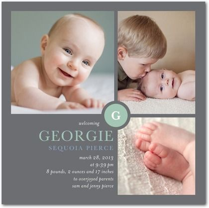 Boy Photo Birth Announcements  - Tiny Prints Stationary