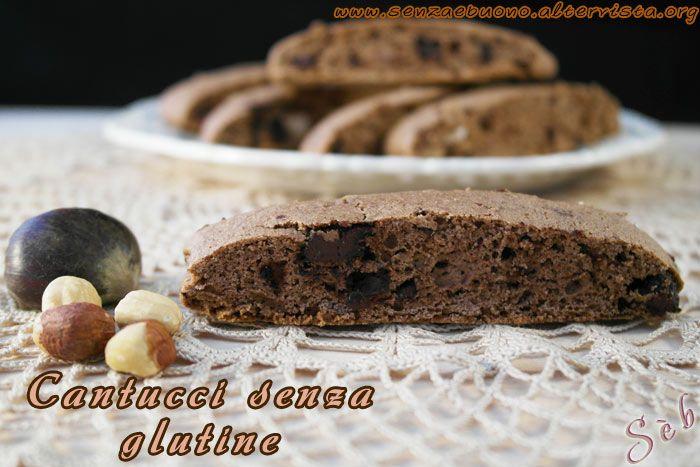 Cantucci #senzaglutine e #senzalatticini con farina di castagne, cioccolato e nocciole  http://senzaebuono.altervista.org/cantucci-senza-glutine-senza-latte/