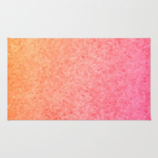 Pink and Orange Bath Mat -  Coral sea glass vibrant, rubber backed, Plush mat matches by ArtfullyFeathered on Etsy https://www.etsy.com/listing/223609385/pink-and-orange-bath-mat-coral-sea-glass
