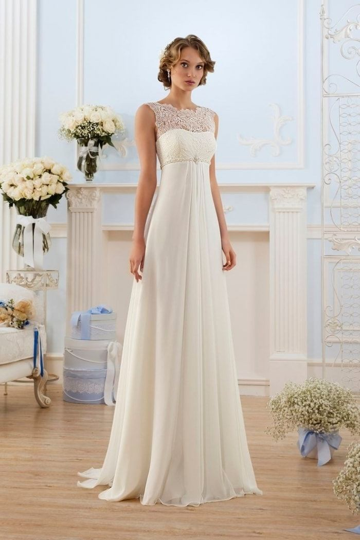resultado de imagen de vestido de novia corte imperio | modas