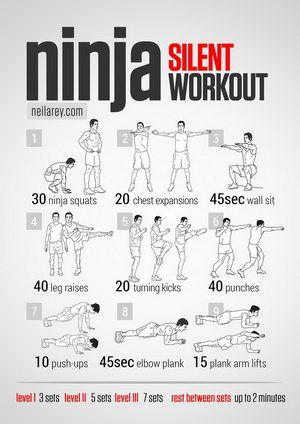 Ninja Workout and other superhero/SF character themed workouts!