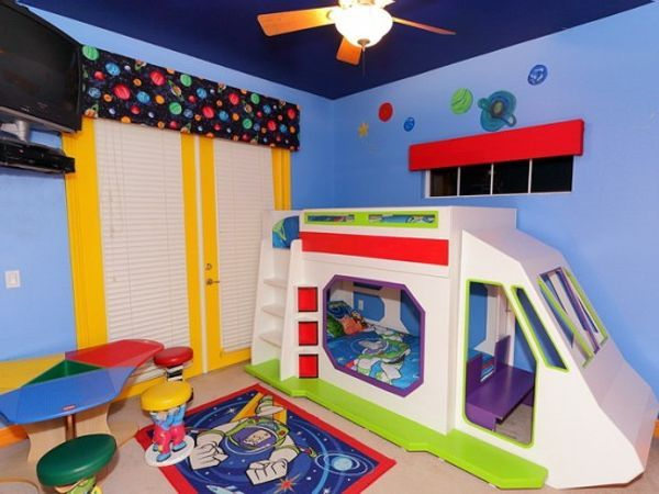 buzz lightyear bunk bed with slide kids rooms
