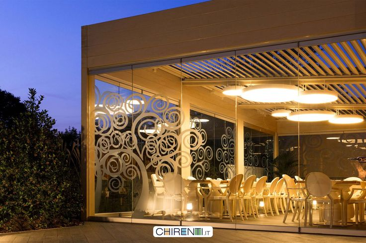 Dehor coperto con una bioclimatica e chiuso con delle vetrate panoramiche...ed ecco pronto il ristorante ツ ☺
