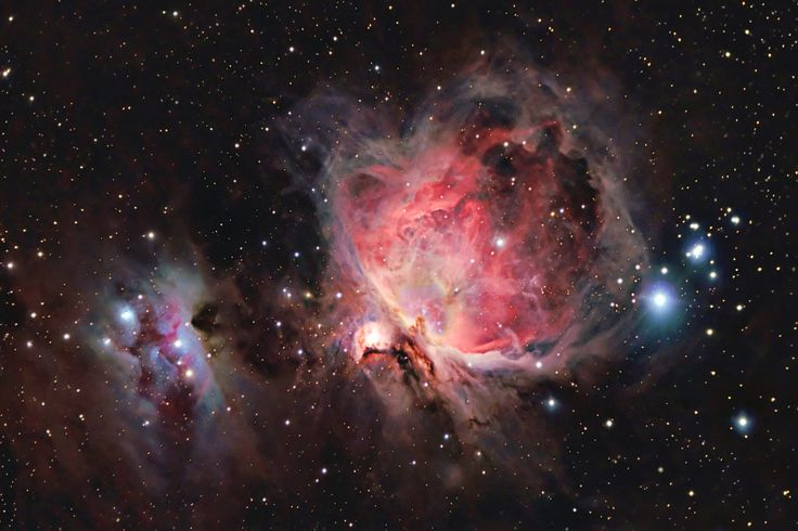 Orion Nebula M42 and The Running Man Nebula NGC1977 by Stardaug. Ontario, Canada